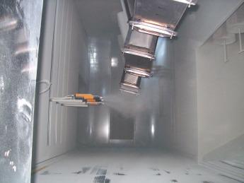 Electrostatic-Powder-Coating-Booth, Poudre-électrostatique-Revêtement-Cabine, Electrostatic-Pulbere-de-Acoperire-Cabinet, Порошковое-электростатическое-покрытие-Кабинет